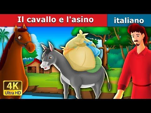 Il cavallo e l'asino | Storie Per Bambini | Fiabe Italiane