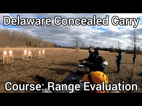 A clip from the range portion of yesterday's concealed carry course - grip - trigger press -