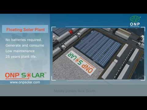 Floating solar plant ONP Solar, 3D View