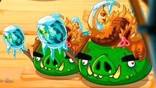 Птички Энгри Бердс #133 игра про мультфильм Angry Birds и Bad Piggies #КРУТИЛКИНЫ