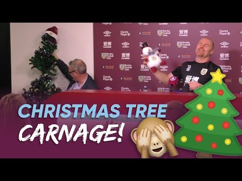 CHRISTMAS TREE CARNAGE | Dyche's Presser Gets Off To A Festive Start