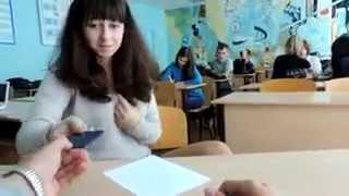 Прикол с девушкой в школе