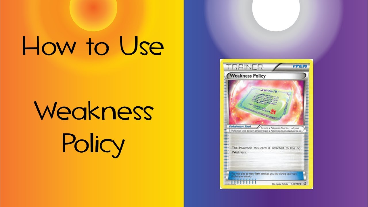 How To Use Weakness Policy Youtube Its ability to comfortably take hits makes weakness policy quite practical, taking advantage of lapras's chilling ability to take strong blows while also potentially shoring up its weak offenses. how to use weakness policy