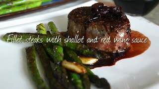 Fillet Steaks With Shallot And Red Wine Sauce | Video Recipe