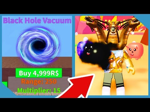 Buying The Black Hole In Roblox Vacuum Simulator