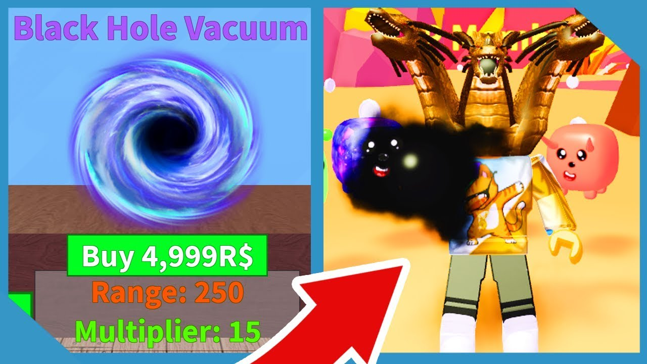 Buying The Black Hole In Roblox Vacuum Simulator - YouTube