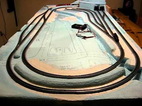N scale model railroad on a door ~ kusuma blog's