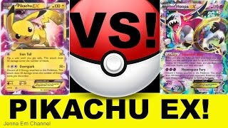 Pokemon Pikachu EX VS Hoopa EX! Jenna Em PTCGO