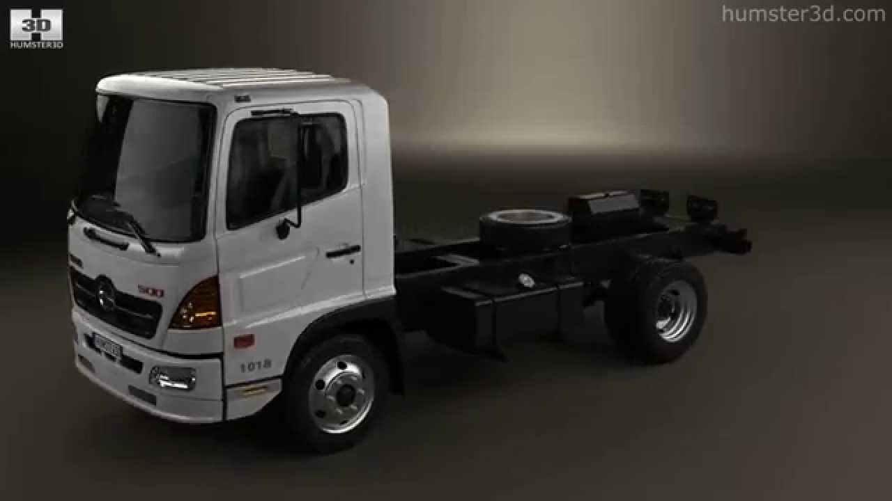 Hino 500 Fc 1018 Chassis Truck 2axle 2008 By 3d Model Store