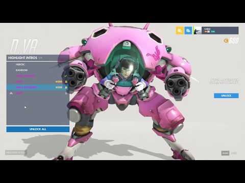Overwatch D.VA all Skins and Stuff