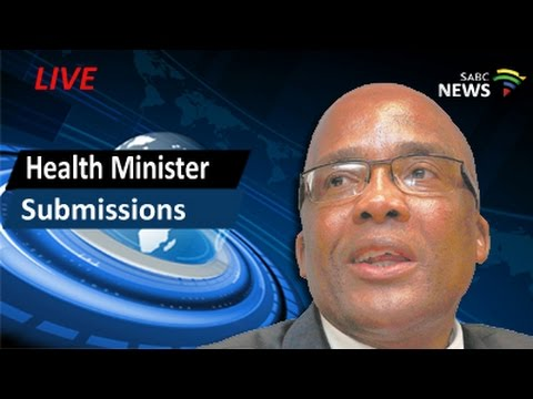 Health Minister delivers submission before HMI - CPT, 11 March '16