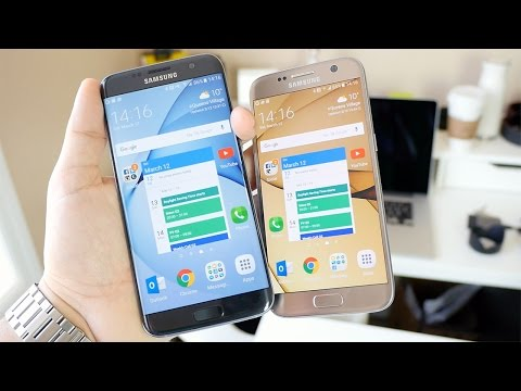 Samsung Galaxy S7 vs Galaxy S7 edge