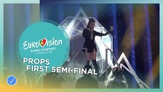 The props of the first Semi-Final of the 2018 Eurovision Song Contest