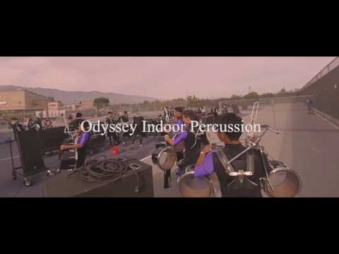 Odyssey Indoor Percussion 2017 in the lot: Rancho Cucamonga