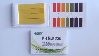 Лакмусовий папір для вимірювання PH, огляд і тест.
