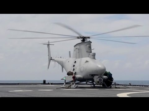 Unmanned Helicopter MQ-8B Fire Scout Operations Aboard Littoral Combat Ship