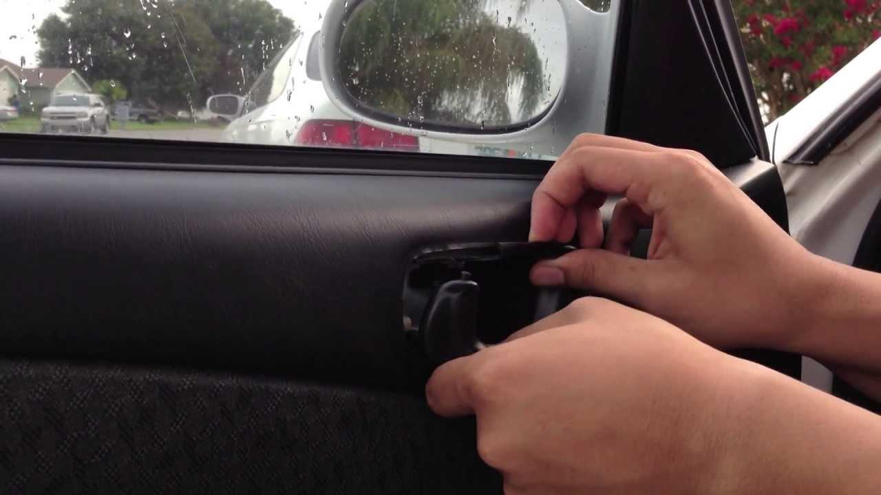 Inside car door handle Dreamstime Banggood Replace Inside Car Door Handle Toyota Corolla Youtube
