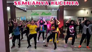 Download lagu SEMUANYA KUCINTA BY VIA VALLEN | zumba | dangdut | joged | lilac