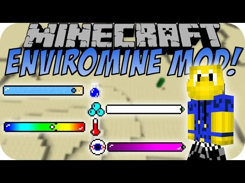 Minecraft ENVIROMINE MOD (Realistic | Hardcore)