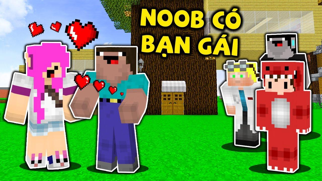 Rex Cùng Noob Công Nghệ Phát Hiện Noob Có Bạn Gái Mới Trong Minecraft Cùng Cái Kết Bất Ngờ !!