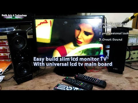 How to install  universal lcd tv controller board in a slim monitor casing
