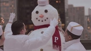 Winter White Snowman at Peninsula Hotels