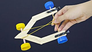 How to make a simple car with rubber band