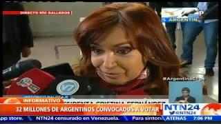 Denuncia contra Cristina Fernández por presuntamente saltarse la veda electoral