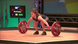 Girls 53kg Group A - 2018 European Youth Weightlifting Championships