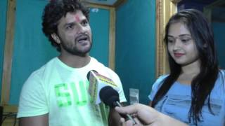 Khesari Lal Yadav and Kajal Ragwani Exclusive Interview Bhojpuri Film  Dulhan Ganga Par Ke