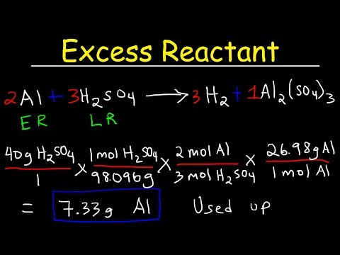 How To Find The Amount of Excess Reactant That Is Left Over - Chemistry