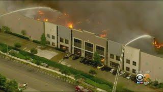 Massive 3-alarm Fire Erupts At Amazon Distribution Center In Redlands