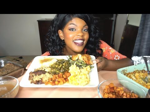 THANKSGIVING MUKBANG SPECIAL (EATING SHOW) | KETO SOUL FOOD | KEILA KETO