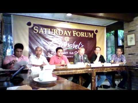 SATURDAY FORUM AT ANNABEL'S,  QUEZON CITY, AUGUST 16, 2014