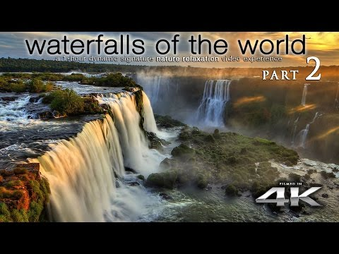 "WORLD'S WATERFALLS in 4K [w music] ""Waterfalls of the World 2"" by Nature Relaxation™"