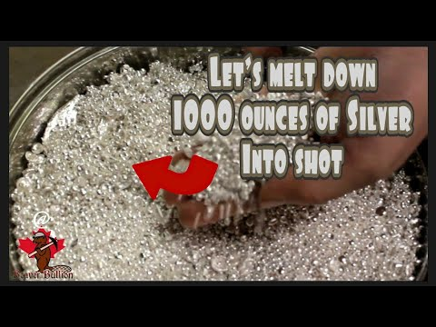 1000 oz of pure silver being melted into shot by Beaver Bullion Canada