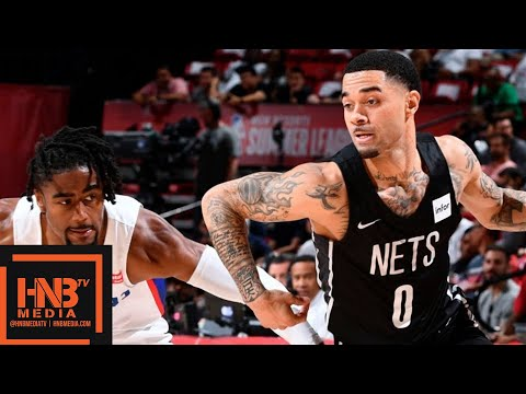 Brooklyn Nets vs Detroit Pistons Full Game Highlights | July 13 | 2019 NBA Summer League
