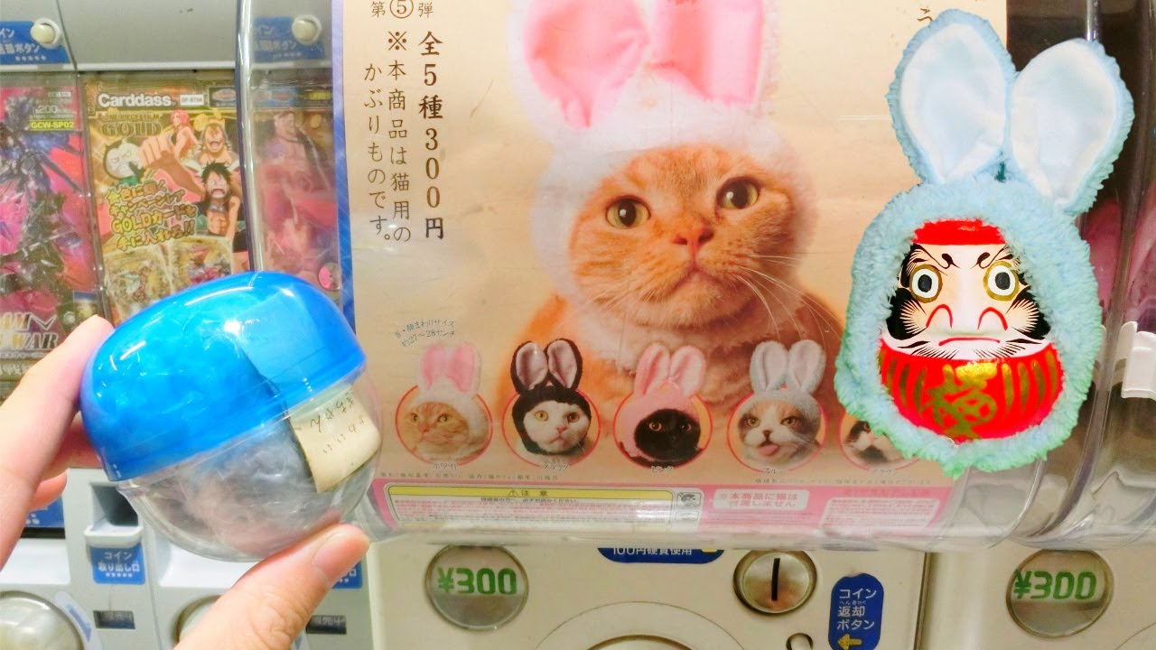 Japanese Unique Capsule Toy Gashapon Bunny Hat For Cats