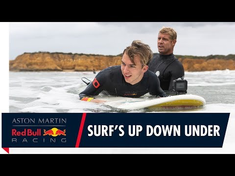 Surf's Up Down Under | Pierre Gasly gets treated to a Mick Fanning surf lesson