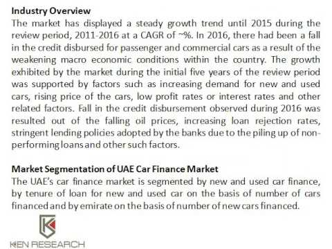 Used Car Sales in the UAE, NBAD UAE Auto Finance, Financing a Used car in UAE - Ken Research