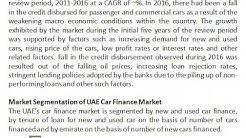 Used Car Sales in the UAE, NBAD UAE Auto Finance, Financing a Used car in UAE - Ken Research