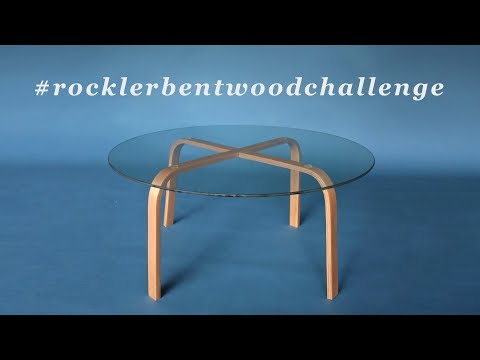 How To Make A Bent Laminated Coffee Table | Steam Bending Wood | #rocklerbentwoodchallenge