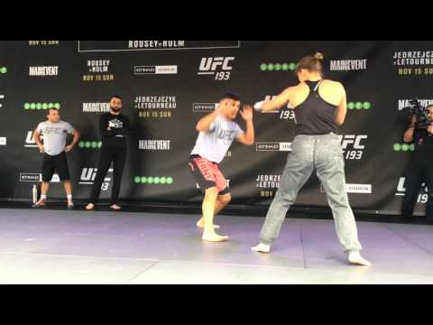 UFC 193 Open Workouts: Ronda Rousey