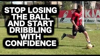 How to practice soccer dribbling by yourself | How to dribble a soccer ball | Football dribbles