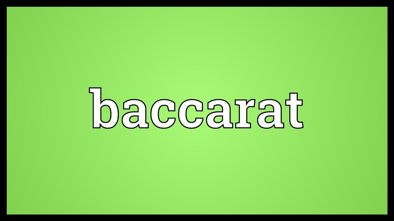 What does baccarat mean in arabic peak mail slot cover