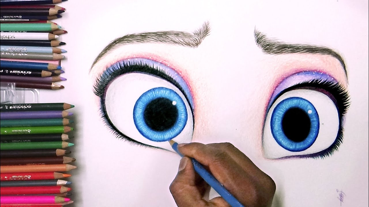how to draw eyes that follow you