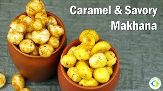 Travel Snack for Babies, Kids & Family | Savory & Caramel Makhana or Foxnuts using Jaggery & Dates
