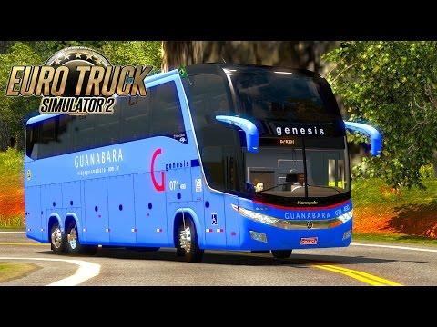 Euro Truck 2 - BELO HORIZONTE X SÃO PAULO MAPA EAA BUS 4.0 l G7 1600 LD ► G27