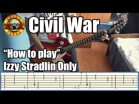 Guns N' Roses Civil War IZZY STRADLIN ONLY with tabs | Rhythm guitar