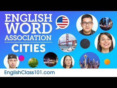 Geography and Cities Word Association with English speakers